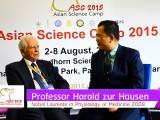 ASC 2015 Special Interviews : Professor Harald Zur Hausen